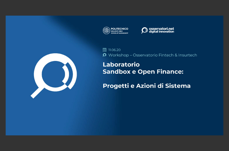Sandbox and Open Finance: Projects and System Actions